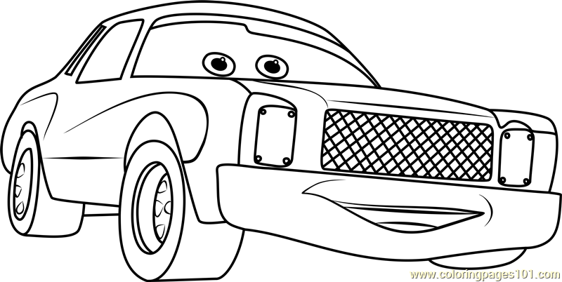 Darrell Cartrip from Cars 3 Coloring Page Free Cars 3 Coloring
