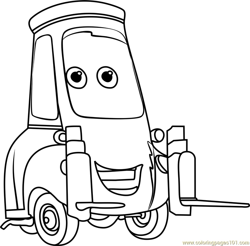 Guido from Cars 3 Coloring Page - Free Cars 3 Coloring ...