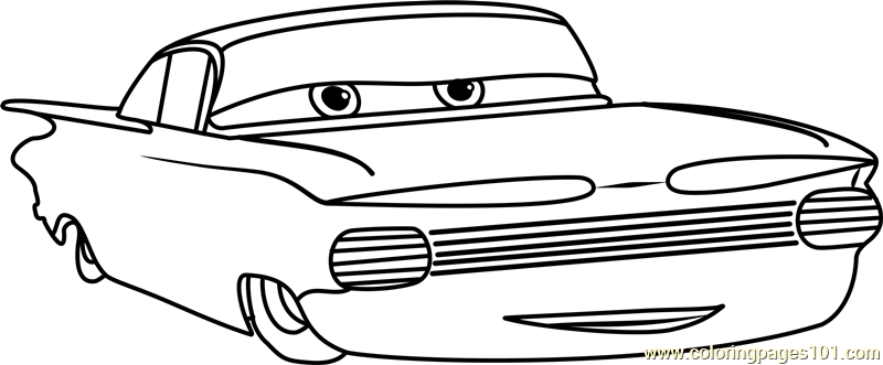 Ramone from Cars 3 Coloring Page