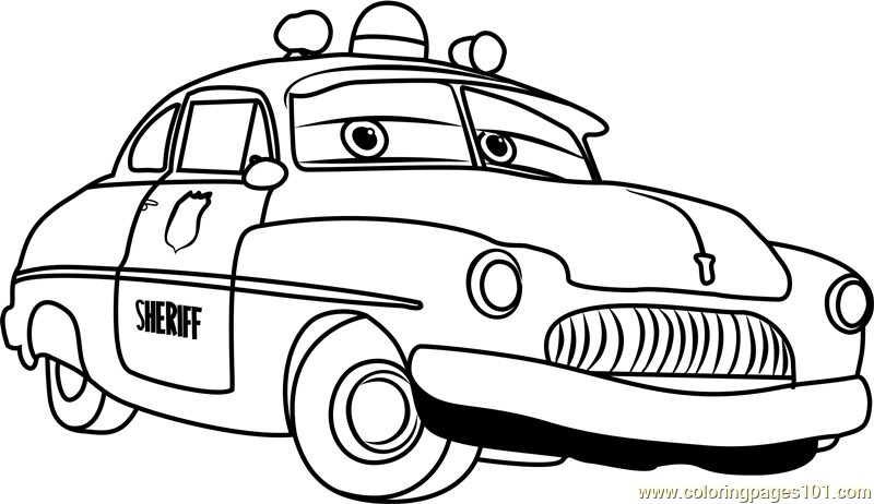Sheriff from Cars 3 Coloring Page Free Cars 3 Coloring Pages