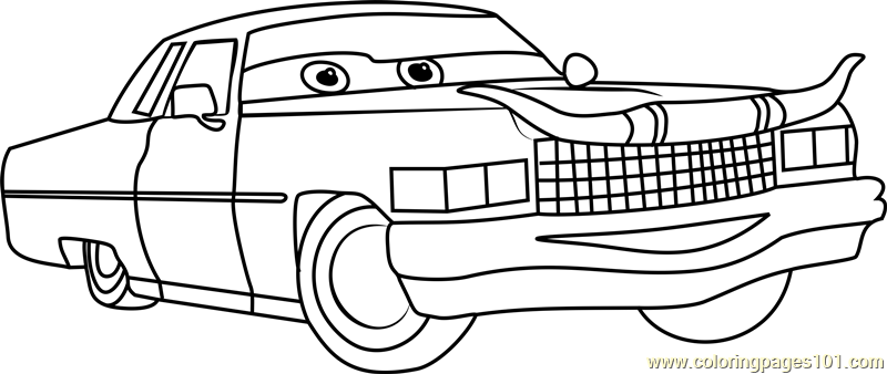 Nice Tex Dinoco From Cars 3 Coloring Page