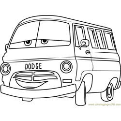 Dusty Rust-eze from Cars 3 Free Coloring Page for Kids