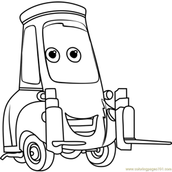 Guido from Cars 3 Free Coloring Page for Kids