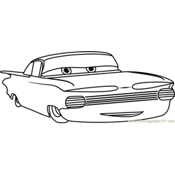 Ramone from Cars 3 Free Coloring Page for Kids