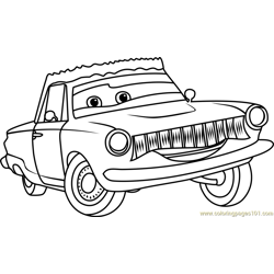 Rusty Rust-eze from Cars 3 Free Coloring Page for Kids
