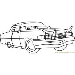 Tex Dinoco from Cars 3 Free Coloring Page for Kids