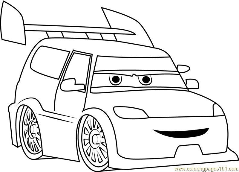 Angry Cars Coloring Page Free