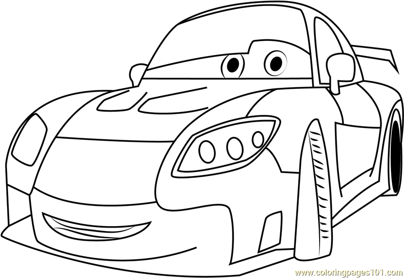 Pin cars cartoon coloring pages on pinterest for Cars cartoon coloring pages