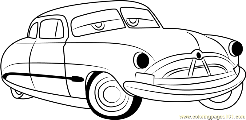 Coloring Pages Cars Cartoon : Disney cars doc hudson coloring pages sketch page