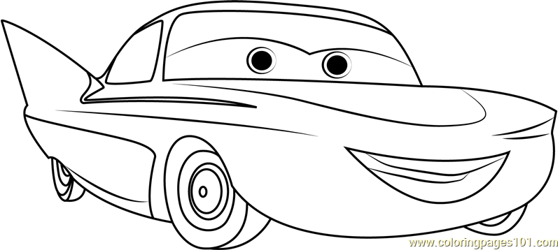 Flo Coloring Page Free Cars Coloring