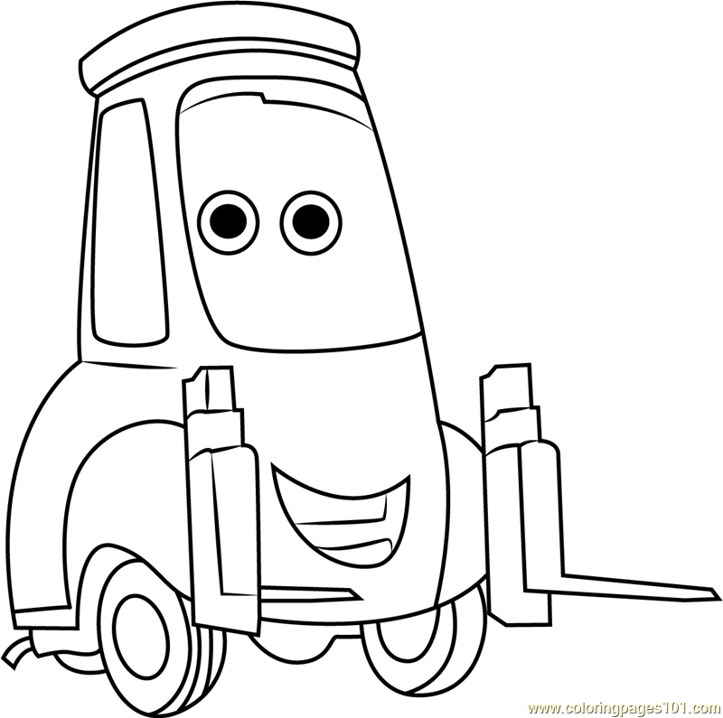 guido cars coloring pages | Guido Coloring Page - Free Cars Coloring Pages ...