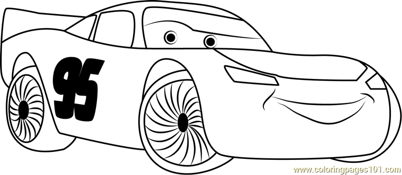 Happy Cars Coloring Page