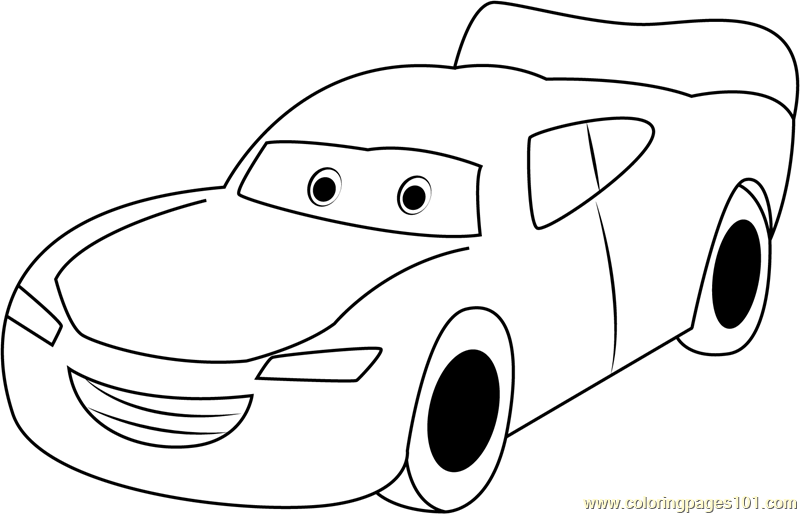 Lightning McQueen Coloring Page - Free Cars Coloring Pages ...