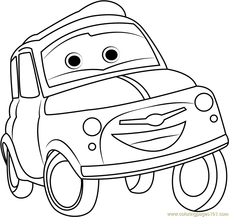 disney cars coloring pages luigi - photo#14