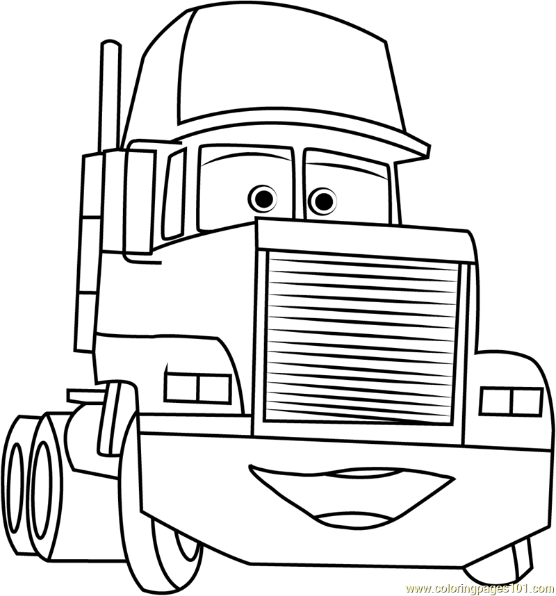 car trailer coloring pages