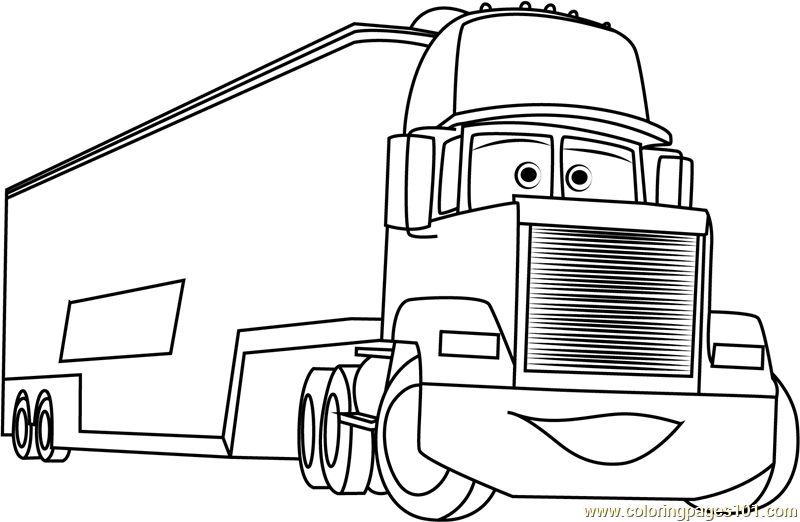Mack Coloring Page Free Cars