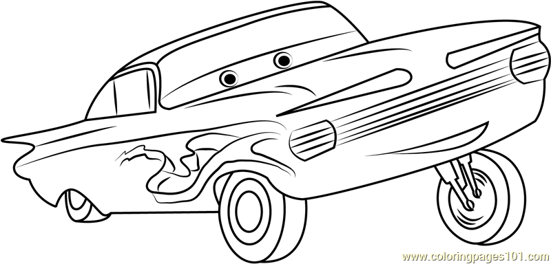 Ramone Coloring Page Free Cars Coloring Pages