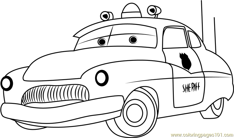 Sheriff Cars Coloring Pages