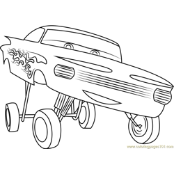 Disney Cars Ramone coloring page