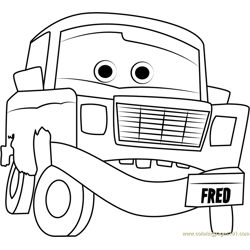 Fred Free Coloring Page for Kids