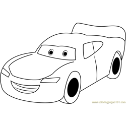 Lightning McQueen Free Coloring Page for Kids