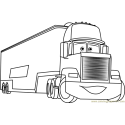 Mack Free Coloring Page for Kids