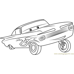 Ramone Free Coloring Page for Kids