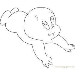 Casper See Up coloring page