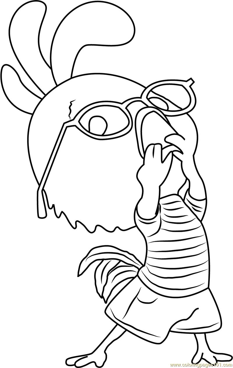 Funny rooster coloring pages for kids sketch coloring page for Chicken little coloring page