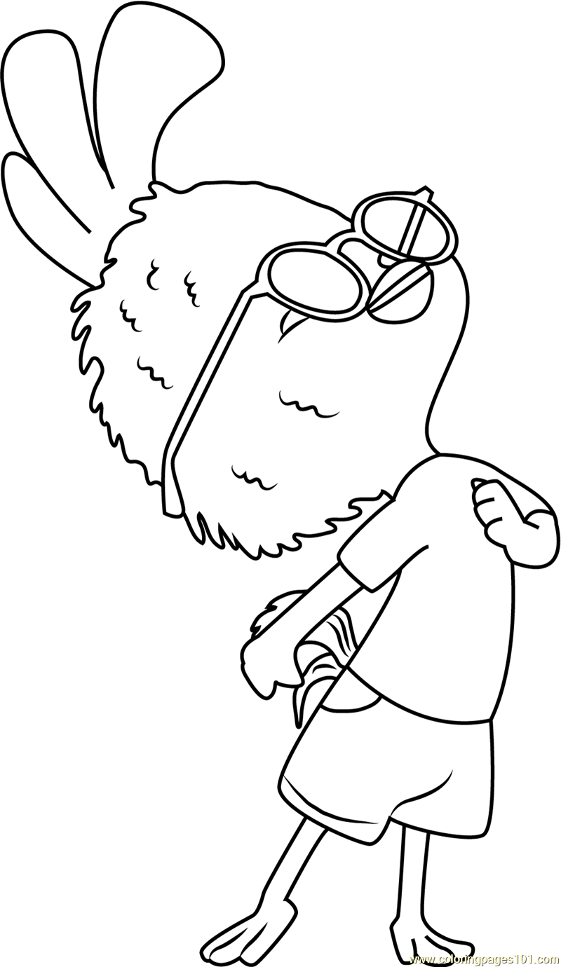 Chicken Little Coloring Page Free Chicken Little Coloring Pages
