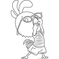 Chicken Little Funny Free Coloring Page for Kids
