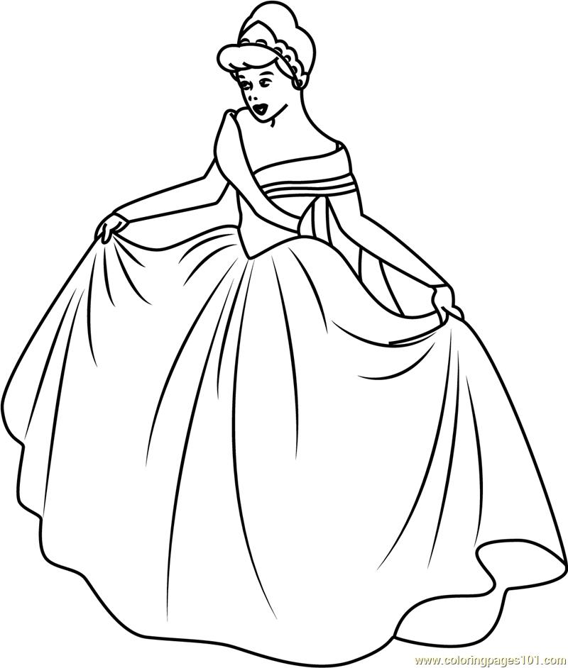 Cinderella in New Look Coloring