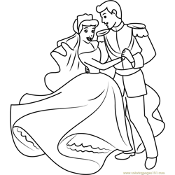 Cinderella and Prince Dancing