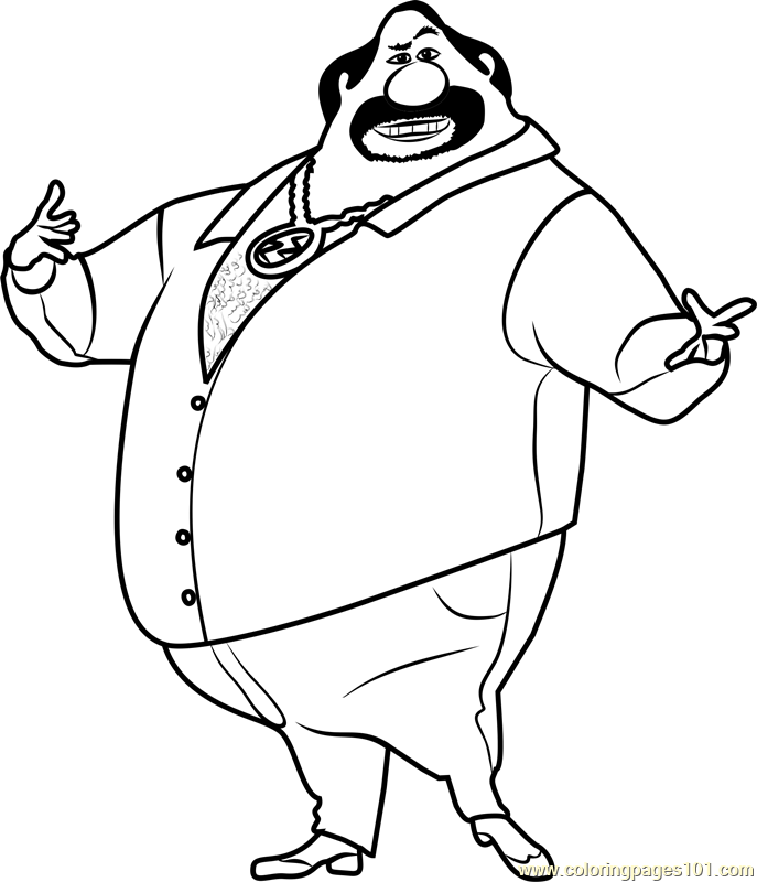 Eduardo Perez Coloring Page - Free Despicable Me 3 Coloring Pages :  ColoringPages101.com