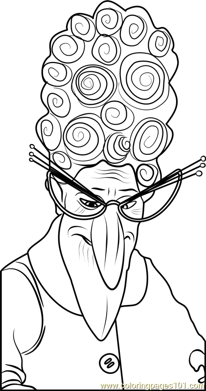 Marlena Gru Coloring Page Free Despicable Me 3 Coloring