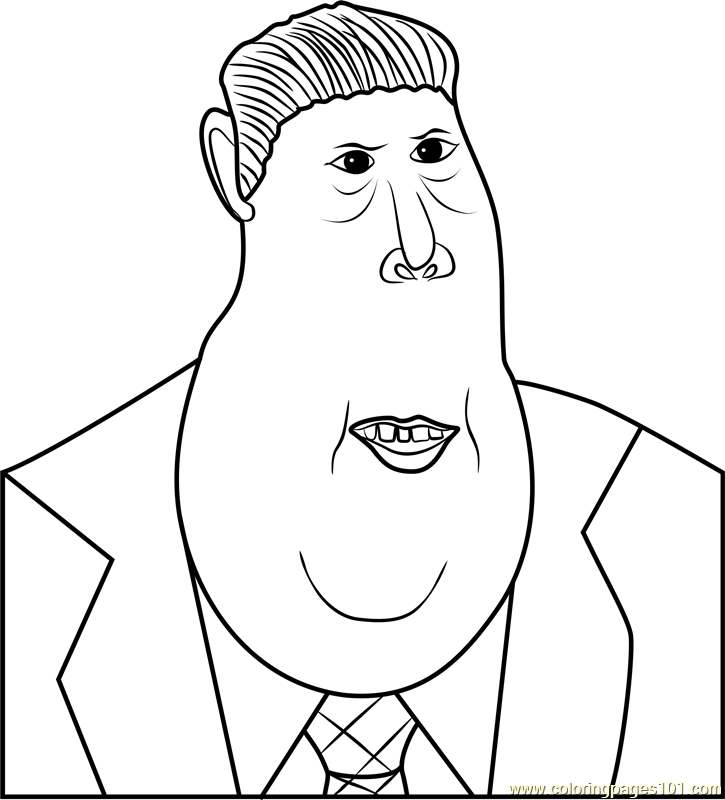 Silas Ramsbottom Coloring Page For Kids - Free Despicable Me 3 Printable Coloring  Pages Online For Kids - ColoringPages101.com Coloring Pages For Kids