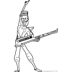 Balthazar Bratt Free Coloring Page for Kids
