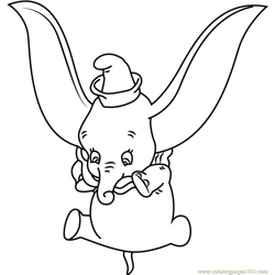 Dumbo Baby Elephant coloring page