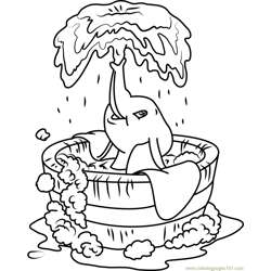 Dumbo Bath coloring page