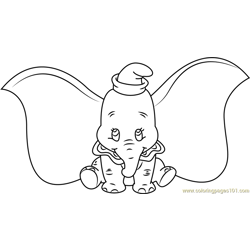 Dumbo Setting Free Coloring Page for Kids