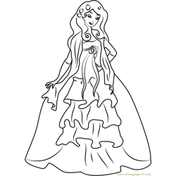 Cute Giselle coloring page