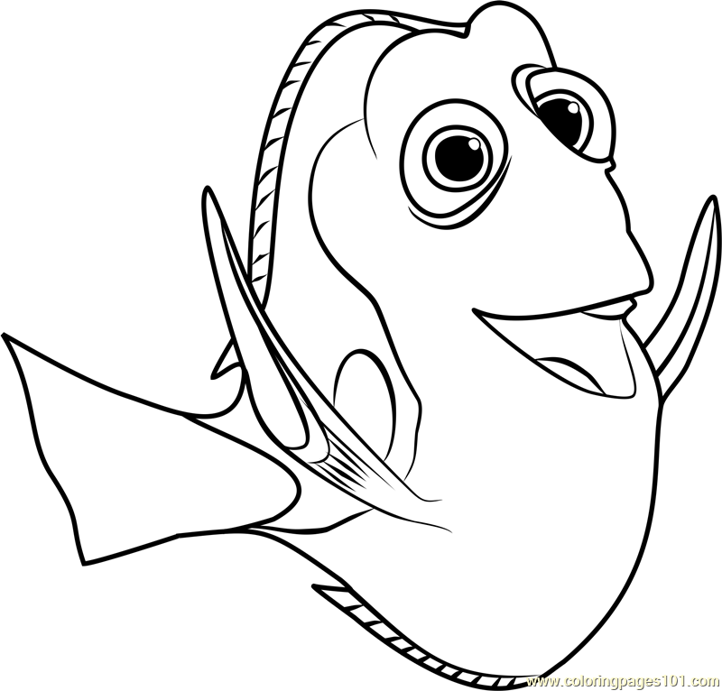 Nemo Coloring Pages Pdf : Dory coloring page free finding pages