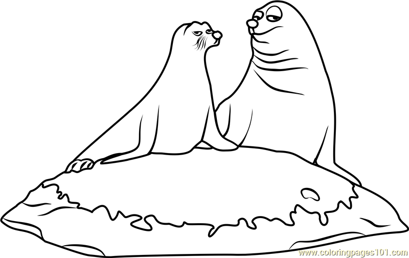 rudder and fluke coloring page coloring page sea lion