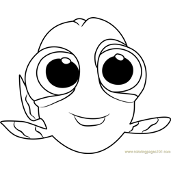 Baby Dory coloring page