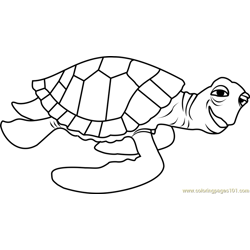 more finding dory coloring pages crush - Crush Finding Nemo Coloring Pages