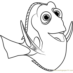 Dory coloring page