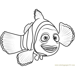 Marlin coloring page