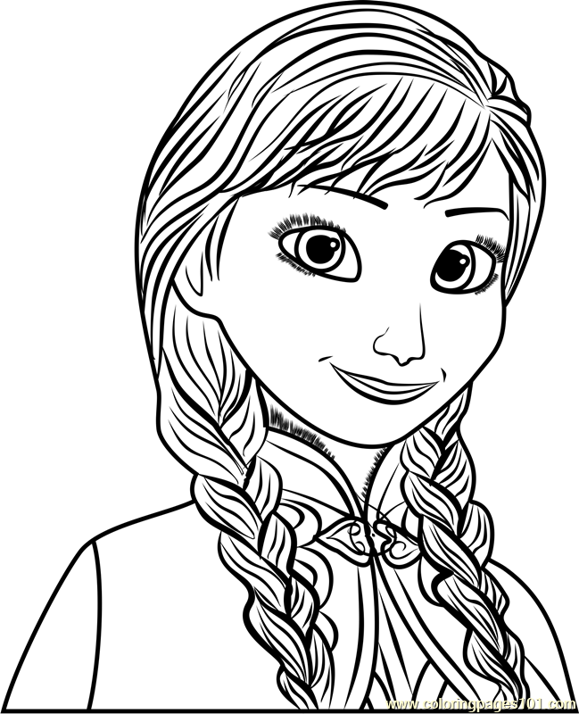 Anna Coloring Page - Free Frozen Coloring Pages ...