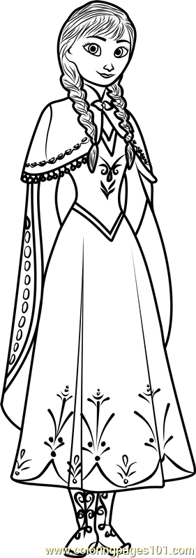 Cute Anna Coloring Page
