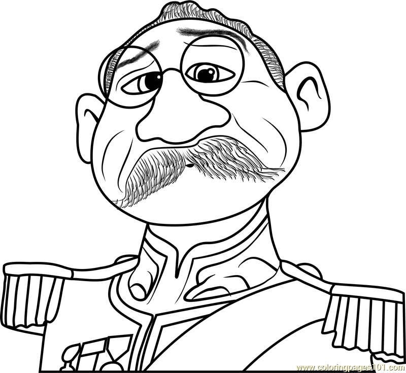 Duke of Weselton Coloring Page